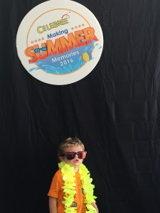 a kid having fun at celebree summer camp