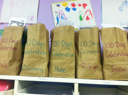 100 Days bags for students