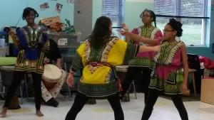 Children at dancing class