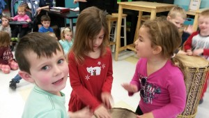 kids interact with others in class