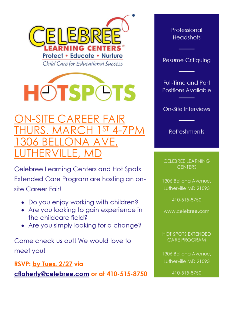 celebree career fair flyer