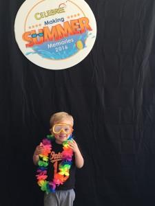 kid having fun at summer camp