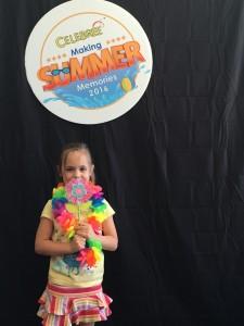 A girl having fun at summer camp