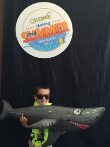 A kid having fun at summer camp