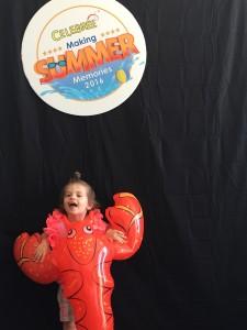 a toddler attending summer camp