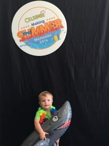 A kid attending summer camp