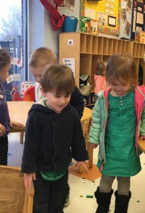 Kids attending preschool program