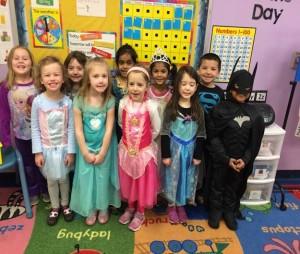 Kids having fun at a costume activity