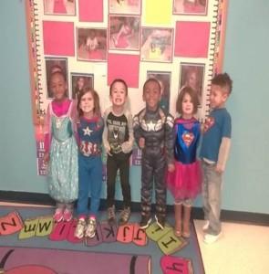 A group of kids at preschool program