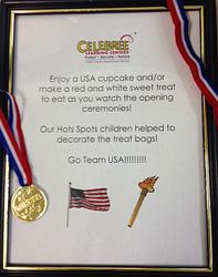 Celebree Olympics plaque