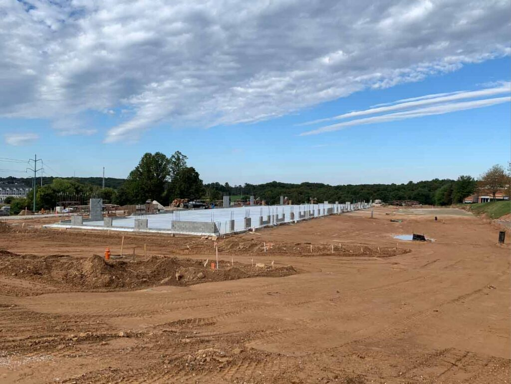 building foundation at new Owings Mills Celebree location