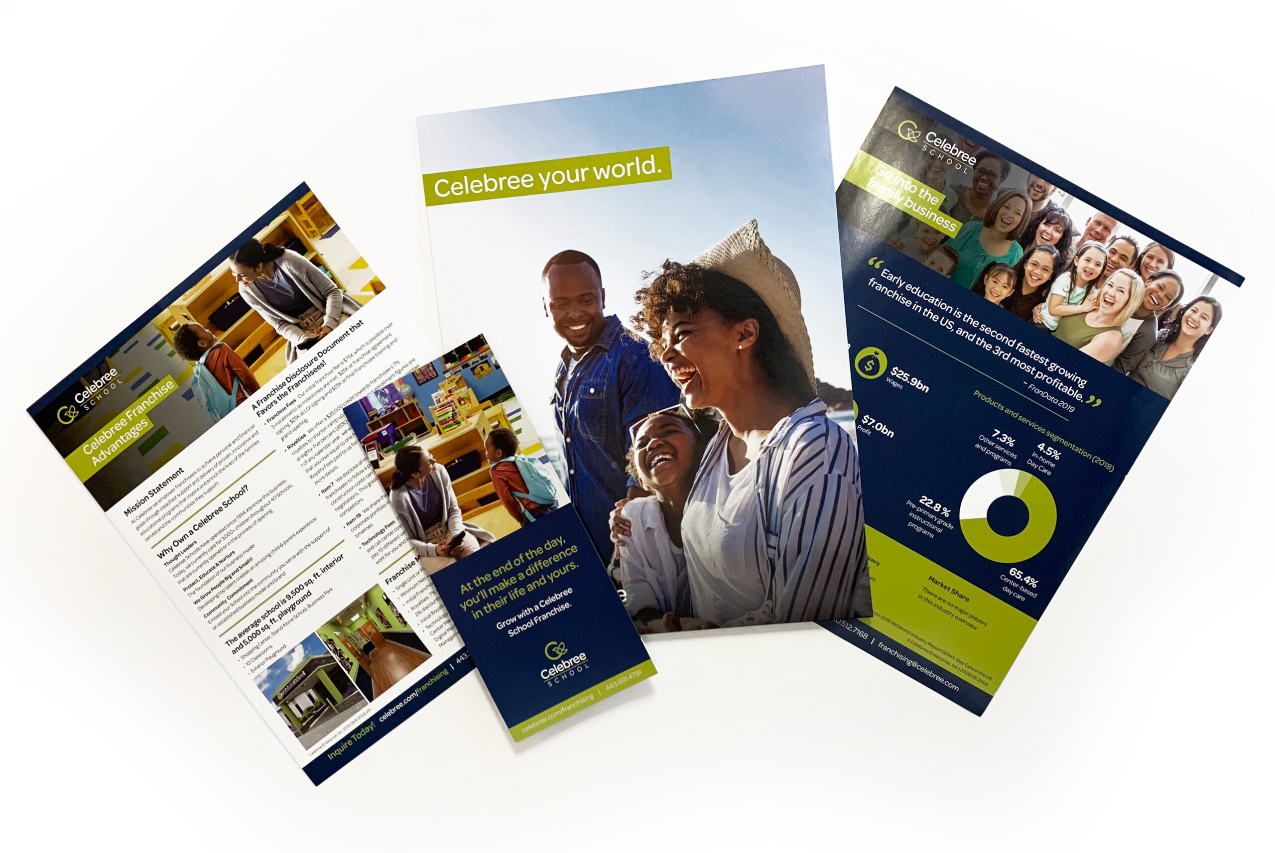 selection of marketing materials